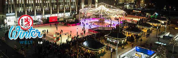 DEG Winterwelt Eislauffläche auf dem Corneliusplatz